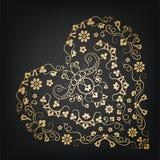 Coeur floral Type de cru illustration libre de droits
