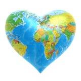 Coeur - fond du monde Image stock
