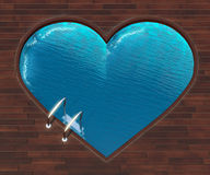 Coeur formé de piscine illustration libre de droits