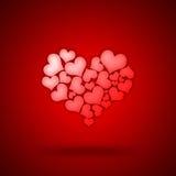 Coeur formé par coeurs Photos stock