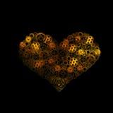 coeur, forme de disposition de vitesses de coeur humain Image stock