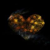 coeur, forme de disposition de vitesses de coeur humain Photographie stock