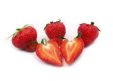 Coeur-forme de fraise Photographie stock libre de droits