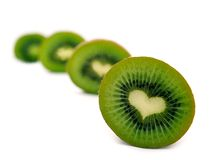 Coeur-forme de kiwi Photographie stock libre de droits