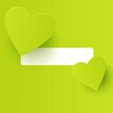 Coeur-formes de vert de limette Images libres de droits