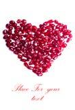 Coeur fruité Photos libres de droits