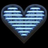 Coeur futuriste illustration stock