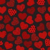 Coeur géométrique sans couture illustration stock