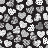 Coeur géométrique sans couture illustration de vecteur