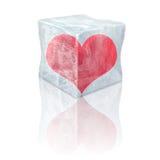 Coeur gelé Photo libre de droits