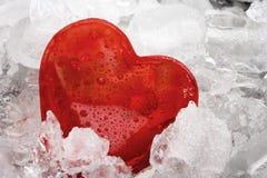 Coeur gelé Photo stock