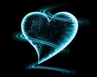 Coeur gelé dans l'obscurité Photo stock