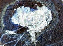 Coeur gelé dans le tronc d'un arbre Photo libre de droits
