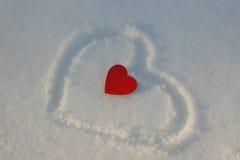 Coeur givré photos stock