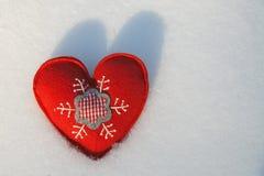 Coeur givré images stock