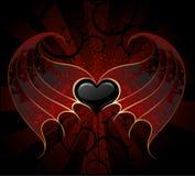 Coeur gothique de vampire Photo stock