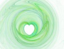 Coeur graphique vert Photo stock