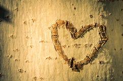 Coeur gravure à l'eau-forte Photographie stock libre de droits