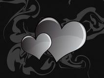 Coeur gris abstrait Photographie stock libre de droits
