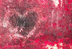 Coeur grunge Image libre de droits