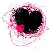 Coeur grunge Images libres de droits