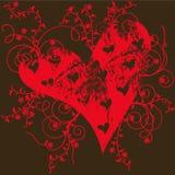 Coeur grunge Photo libre de droits
