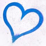 Coeur grunge bleu Photo libre de droits
