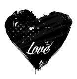 Coeur grunge de vecteur Photographie stock libre de droits