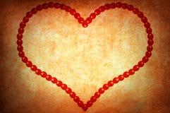 Coeur grunge du jour de Valentine Photographie stock