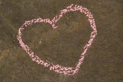 Coeur grunge en pierre Photo libre de droits