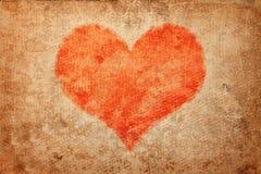 Coeur grunge. Le jour de Valentine Photos stock