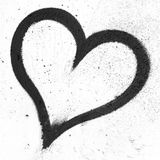 Coeur grunge noir Photos stock