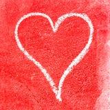 Coeur grunge pour le jour du ` s de Valentine Photographie stock
