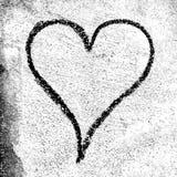 Coeur grunge pour le jour du ` s de Valentine Images libres de droits