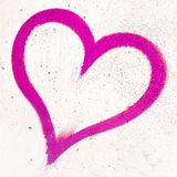 Coeur grunge rose Photo libre de droits