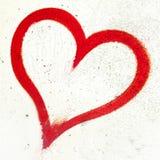 Coeur grunge rouge Photos libres de droits