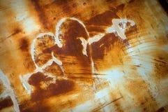 Coeur grunge rouillé Images libres de droits