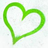 Coeur grunge vert Image libre de droits