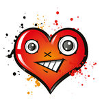 Coeur heureux Photographie stock