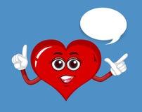 Coeur heureux avec deux bras illustration libre de droits