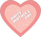 Coeur heureux du jour de mère Images stock