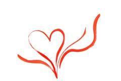 Coeur heureux tiré de Valentines Image libre de droits