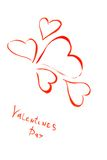 Coeur heureux tiré de Valentines Images libres de droits