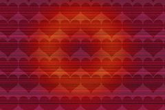 Coeur heureux Valentine Day Red Background Photographie stock