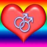 Coeur homosexuel de Valentine Photo libre de droits