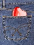 Coeur hors de poche Photos libres de droits
