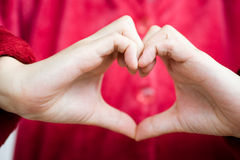 Coeur humain de main Image libre de droits