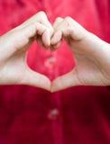 Coeur humain de main Photo stock