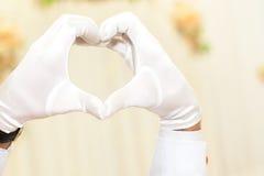 Coeur humain de main Image stock