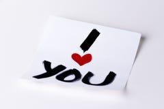 Coeur i que vous cardez Photo libre de droits